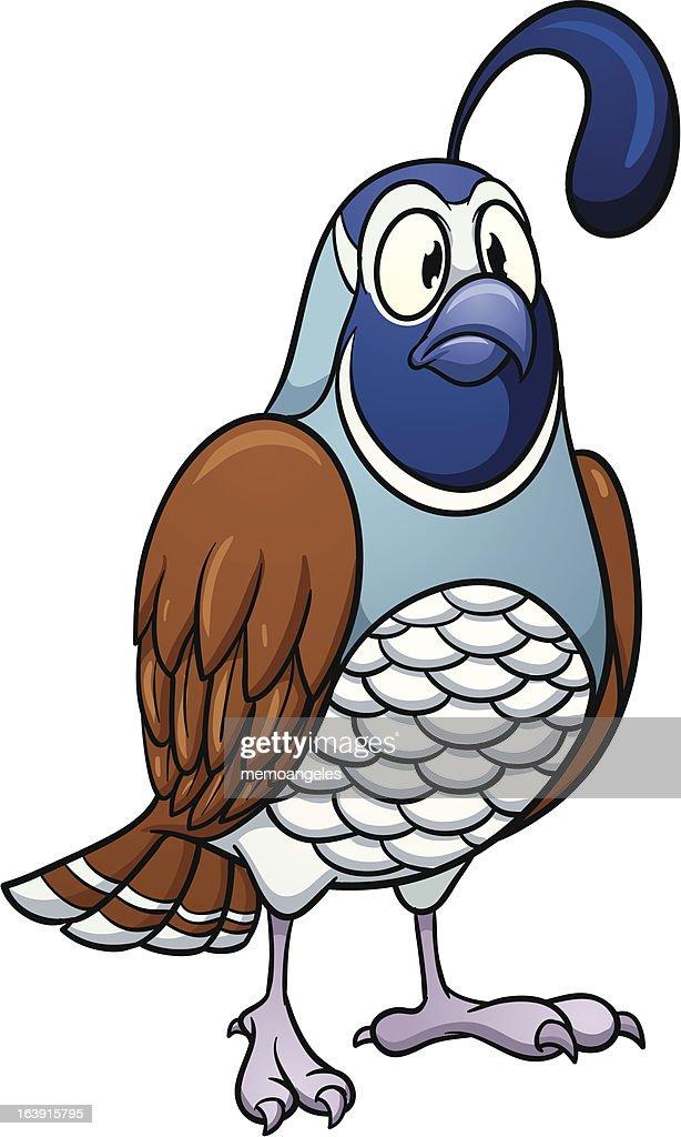 Cartoon quail
