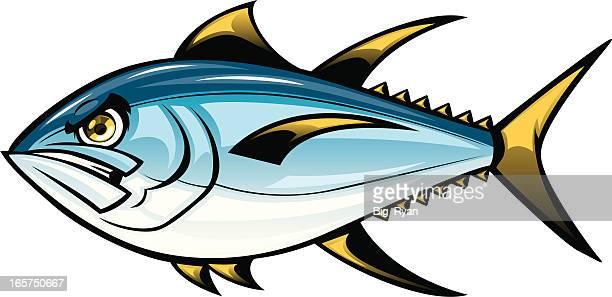 ilustraciones, imágenes clip art, dibujos animados e iconos de stock de atún de historieta - bonito del norte