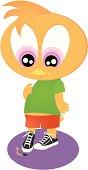 Cartoonish Cute chicken
