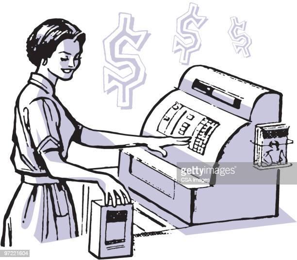 Cashier Cartoons: Grocery Cashier Stock Illustrations And Cartoons