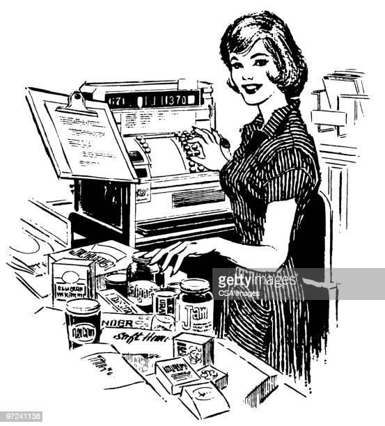 Cashier Cartoons: Shop Assistant Stock Illustrations And Cartoons