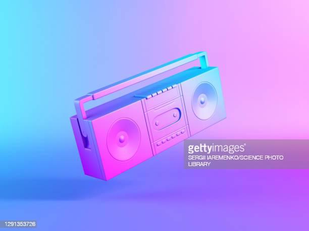 illustrazioni stock, clip art, cartoni animati e icone di tendenza di cassette player, illustration - hi fi