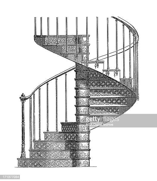 Spiral Staircase Stock Illustrations And Cartoons