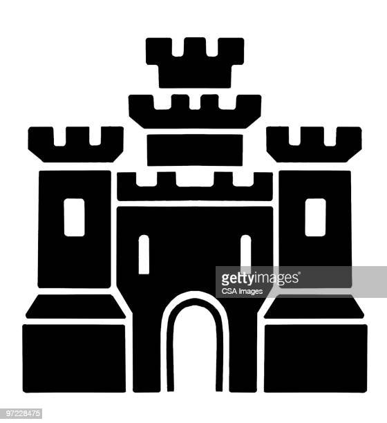castle - castle stock illustrations