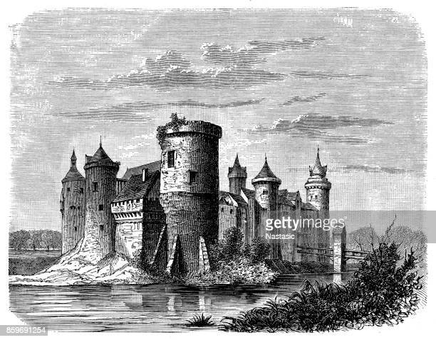 castle in rouen, france - normandy stock illustrations, clip art, cartoons, & icons