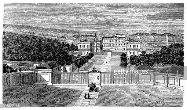 château de marly - eastern europe stock illustrations, clip art, cartoons, & icons