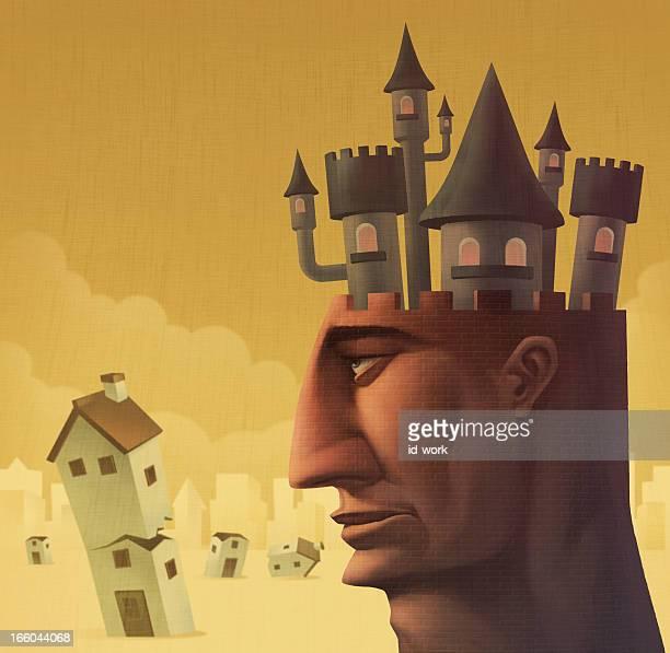 castle on head