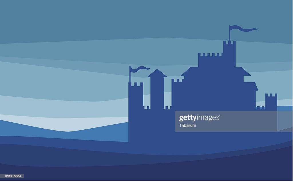 Castle silhouette - old fortress