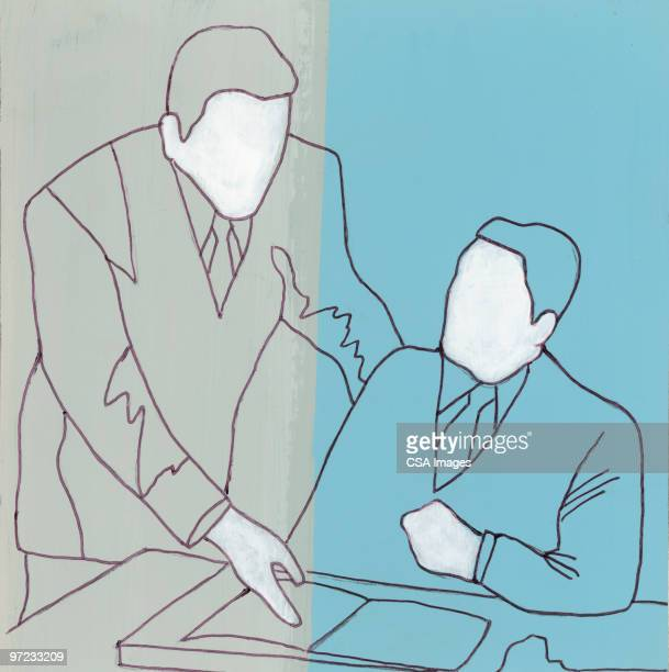 casual meeting - two people stock illustrations