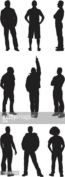 Casual men silhouettes