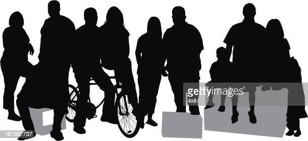 Casual people on street