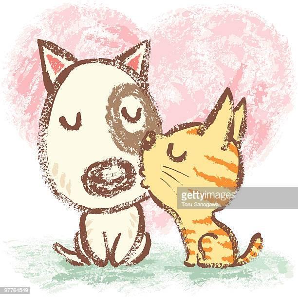 犬猫はキス