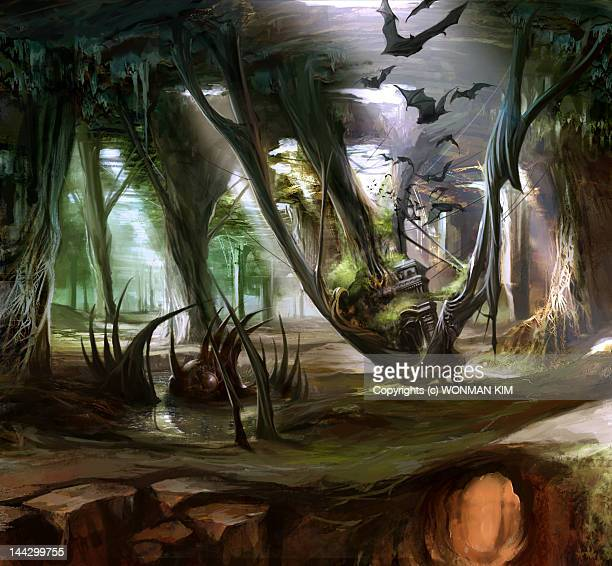 ilustraciones, imágenes clip art, dibujos animados e iconos de stock de catacomb concept art - grupo grande de animales