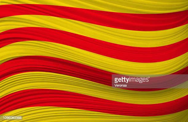 illustrations, cliparts, dessins animés et icônes de drapeau ondulant catalane - catalogne