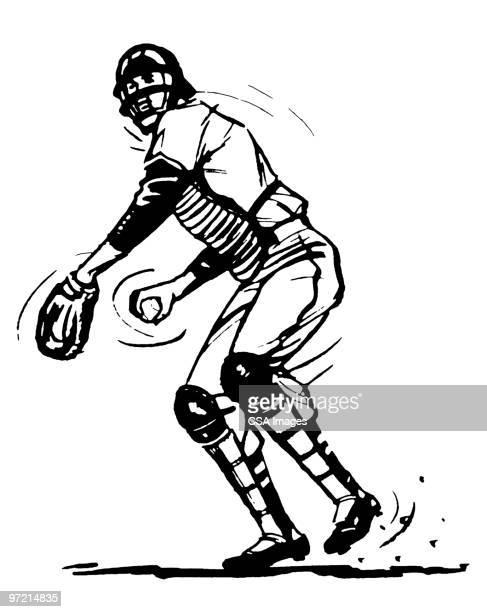 catcher - キャッチャー点のイラスト素材/クリップアート素材/マンガ素材/アイコン素材