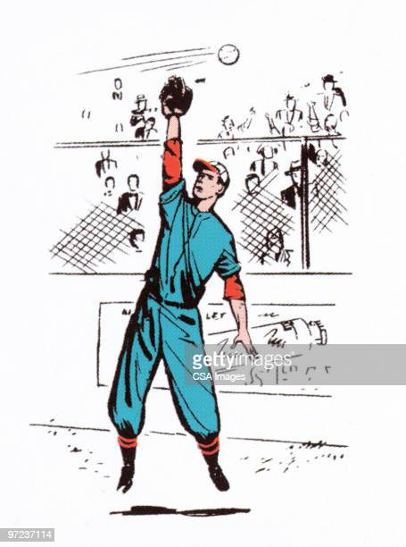 catcher missed it - fan enthusiast stock illustrations
