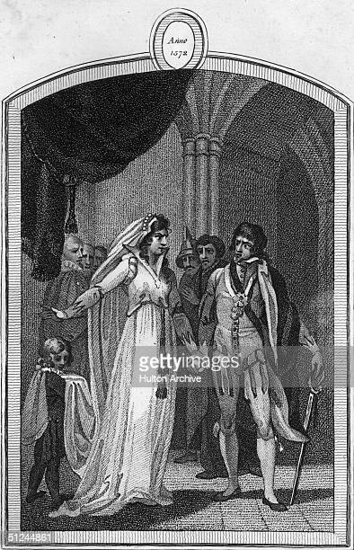 Catharine de Medici exhorting her son, King Charles IX of France, to give the order to massacre Huguenots in what became known as the St...