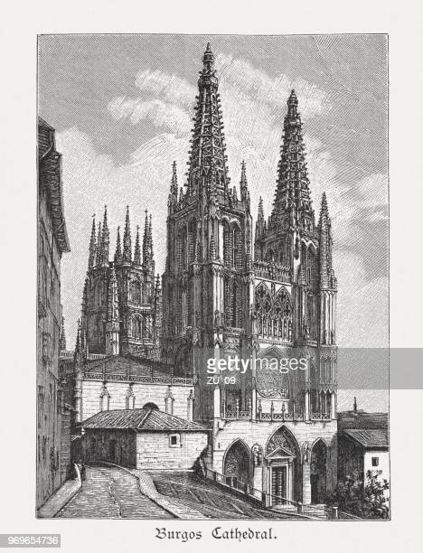 Cathedral of Saint Mary of Burgos, Spain, woodcut, published 1897