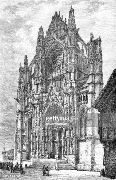 Cathedral of Saint Peter of Beauvais in Beauvais, France - 19th Century