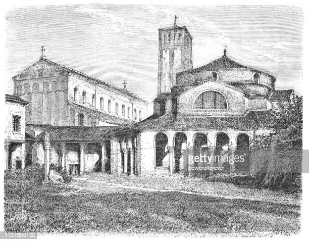 Cathedral of Santa Maria Assunta and the Church of Santa Fosca at Torcello in Veneto, Italy - 19th Century