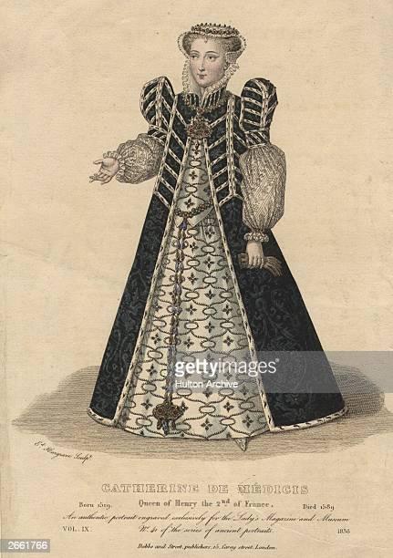 Catherine de Medici , the Queen of Henry II of France, circa 1550.