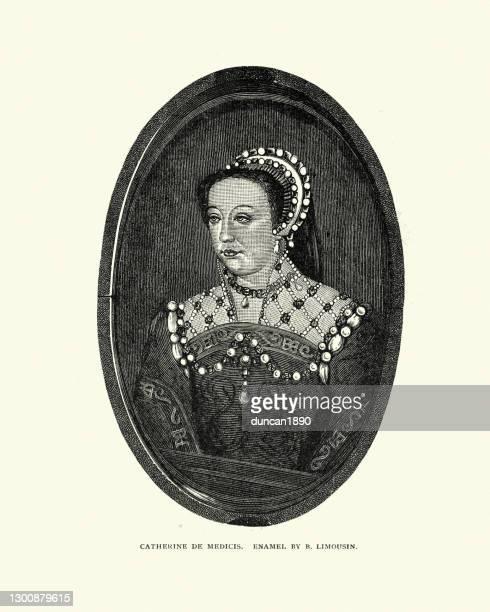 キャサリン・ド・メディチはイタリアの貴族、フランスの女王コンソーシアムでした - カトリーヌ・ド・メディシス点のイラスト素材/クリップアート素材/マンガ素材/アイコン素材