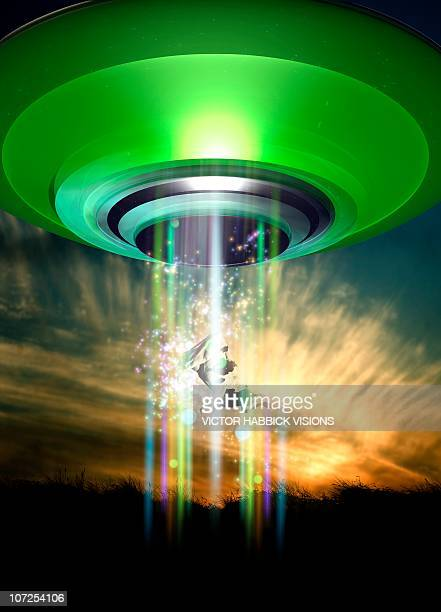UFO cattle abduction, conceptual artwork