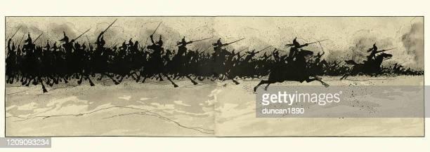 ワースの戦いでクイラシアーズの騎兵隊の担当 - チャージする点のイラスト素材/クリップアート素材/マンガ素材/アイコン素材