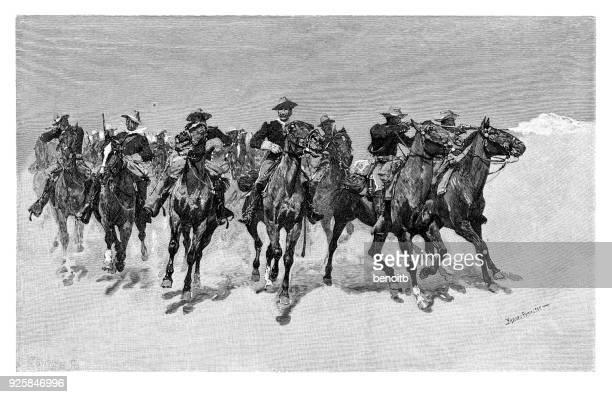 cavalry - cavalry stock illustrations