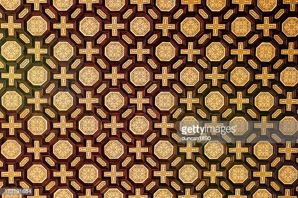 ceiling pattern - seville stock illustrations, clip art, cartoons, & icons