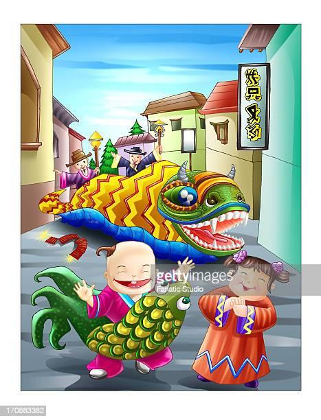celebration of chinese new year - 住宅団地 発祥の地点のイラスト素材/クリップアート素材/マンガ素材/アイコン素材