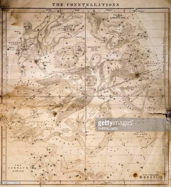 illustrations, cliparts, dessins animés et icônes de celestial carte 1856 - constellation