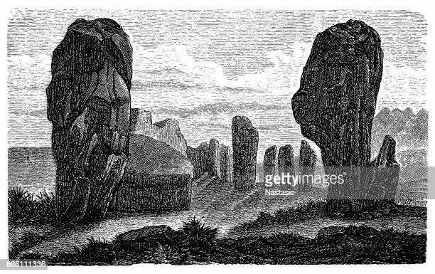 ilustrações de stock, clip art, desenhos animados e ícones de celtic stone - megalith