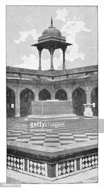 Cenotaph at Akbar's Mausoleum in Agra, India - British Era