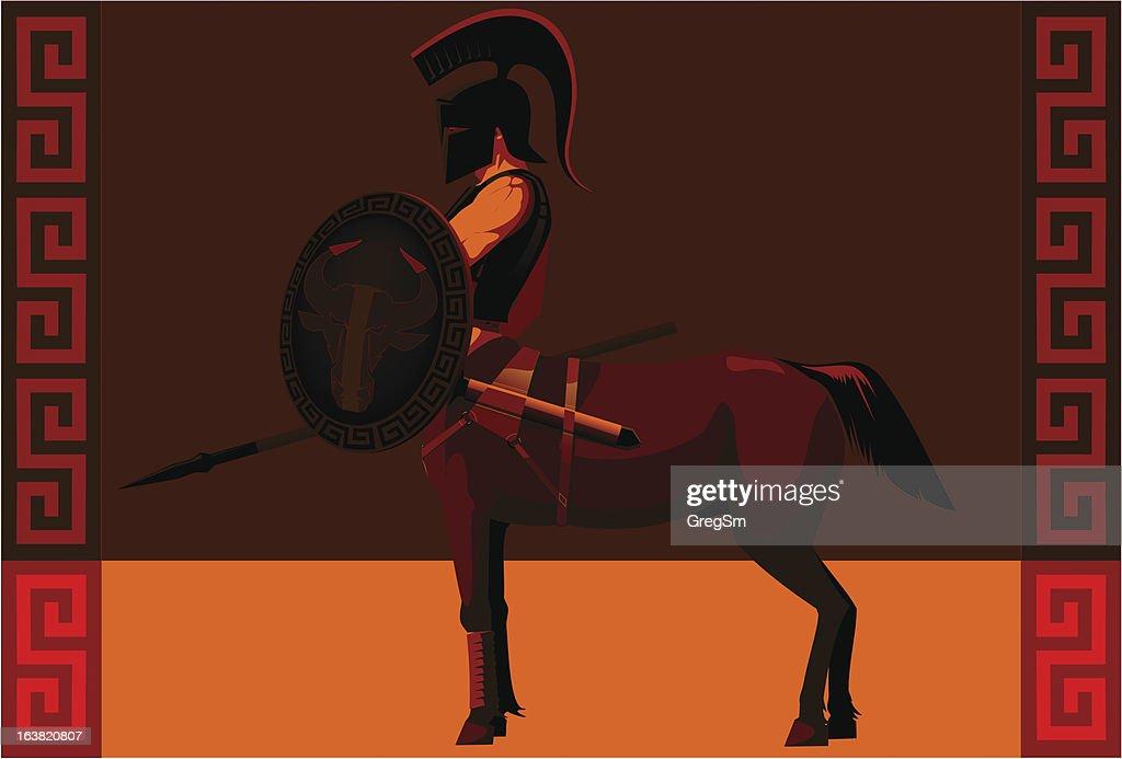 centaur in black arms