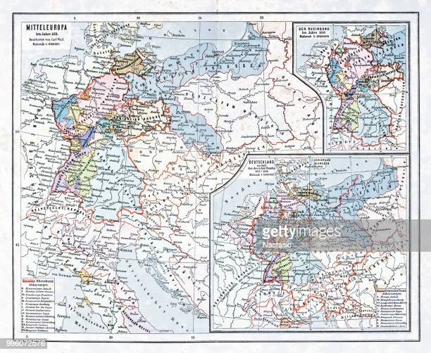 central europe in 1811 - eastern europe stock illustrations, clip art, cartoons, & icons