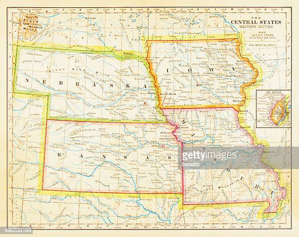 1883 Central States Map