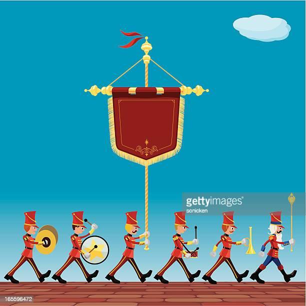 ceremonial parade - parade stock illustrations, clip art, cartoons, & icons
