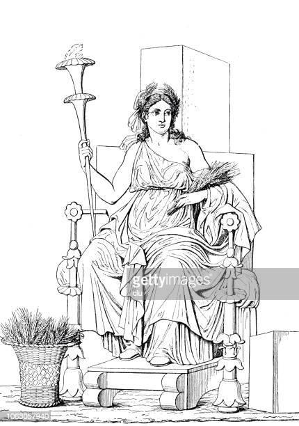 セレス、農業、出生や結婚のローマの女神 - 繁殖力点のイラスト素材/クリップアート素材/マンガ素材/アイコン素材