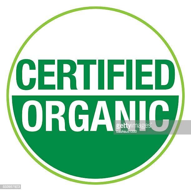 certified organic symbol - genetic modification stock illustrations, clip art, cartoons, & icons