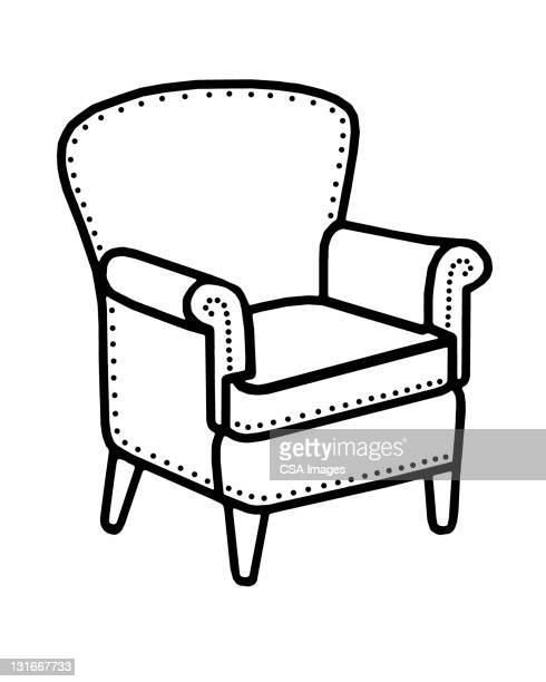 chair - furniture stock illustrations, clip art, cartoons, & icons