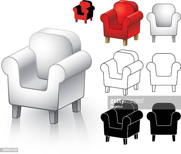 Reclining Chair Premium Stock Illustrations Getty Images