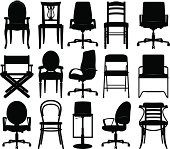 Chairs silhouettes collection