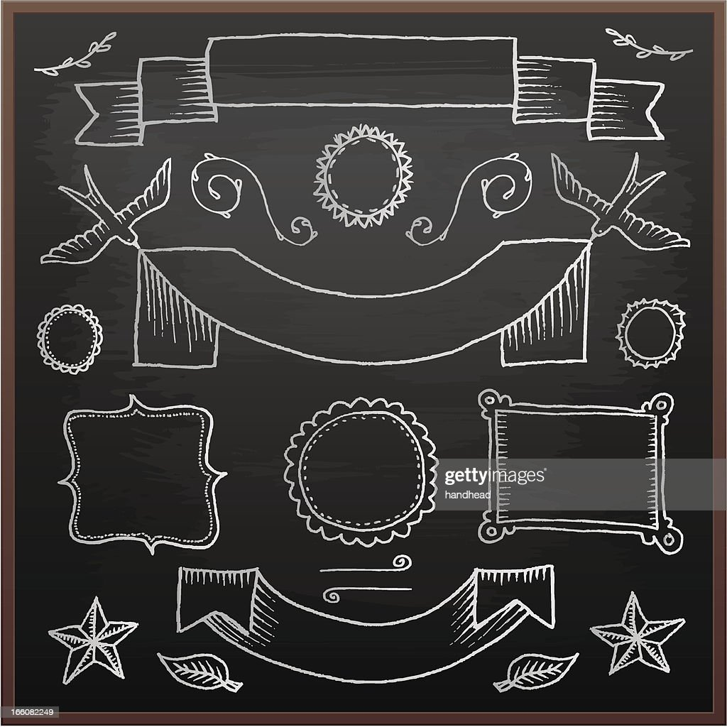 Chalkboard elementi di design illustrazione stock getty for Elementi di design