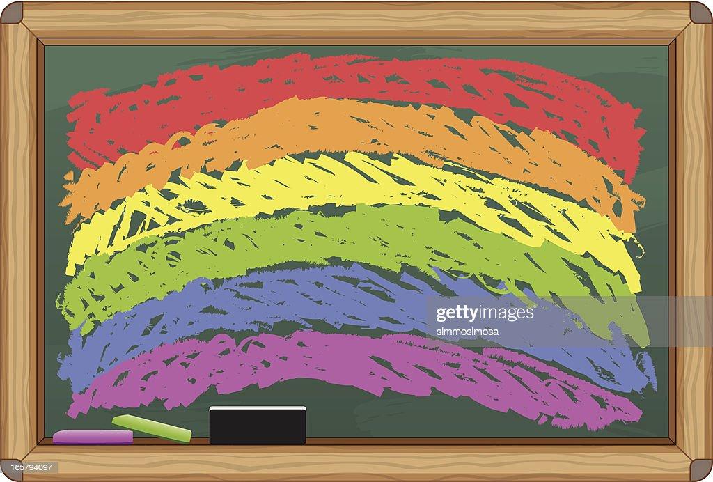 Chalkboard Rainbow : stock illustration