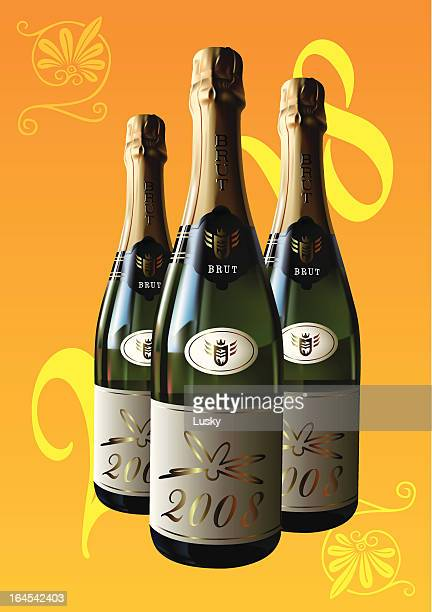 champagne 2008 - champagne cork stock illustrations, clip art, cartoons, & icons