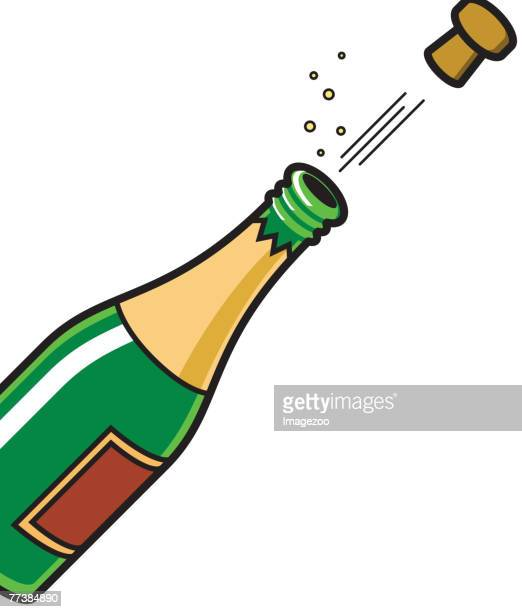 champagne - champagne cork stock illustrations, clip art, cartoons, & icons
