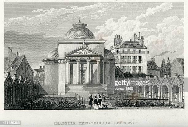 stockillustraties, clipart, cartoons en iconen met chapelle expiatoire de louis xvi - kapel