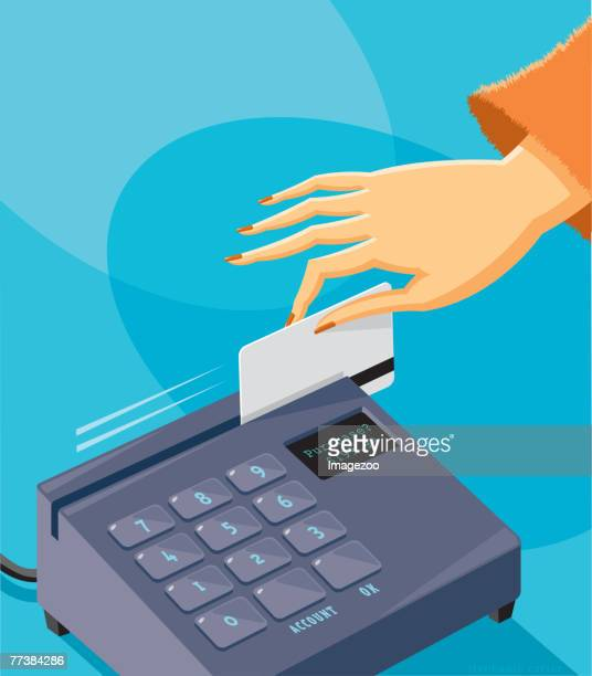 charge it - spending money stock illustrations, clip art, cartoons, & icons