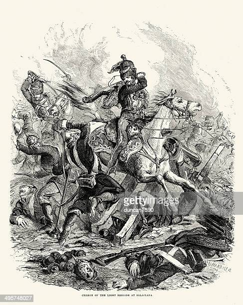 charge of the light brigade - brigade stock illustrations